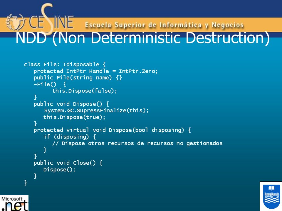 NDD (Non Deterministic Destruction)