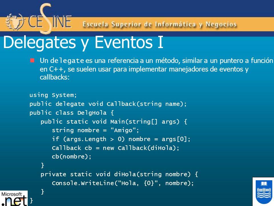 Delegates y Eventos I
