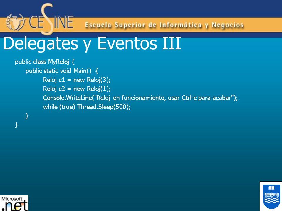 Delegates y Eventos III