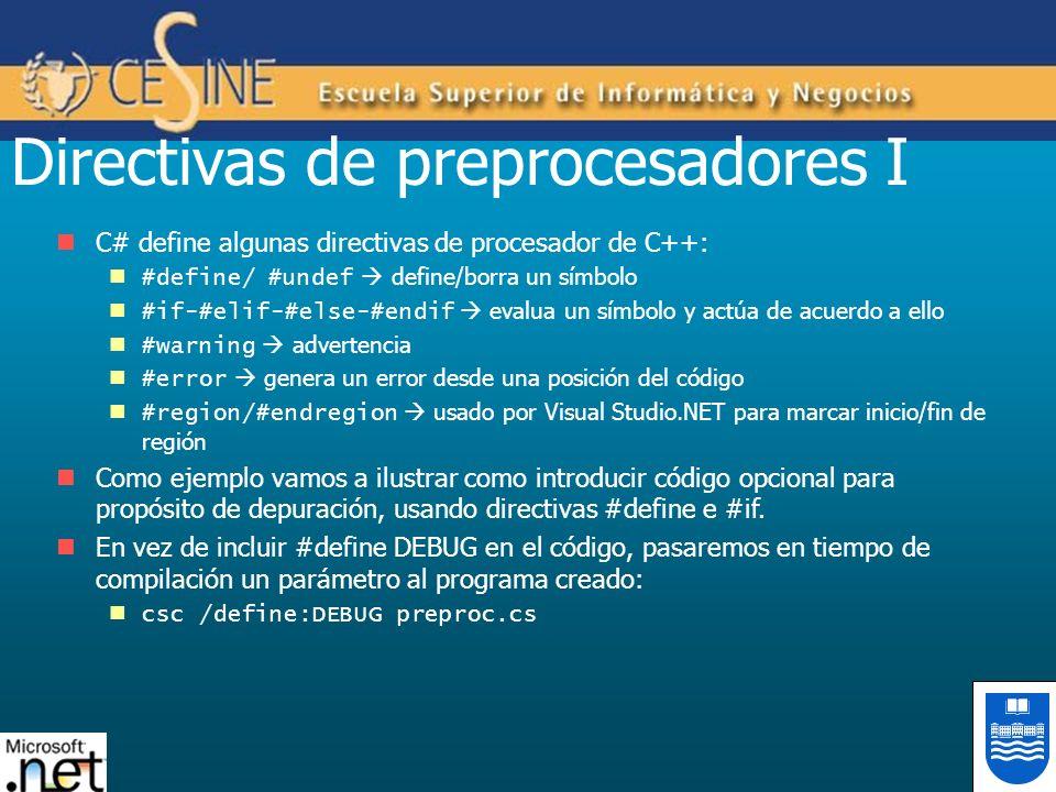 Directivas de preprocesadores I