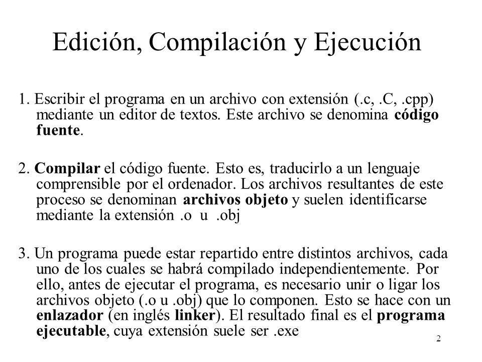 Edición, Compilación y Ejecución