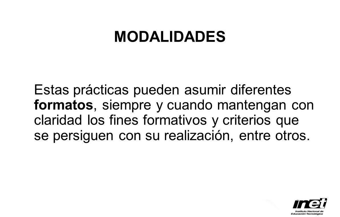 MODALIDADES