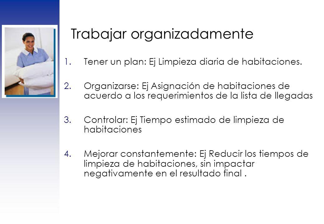 Trabajar organizadamente