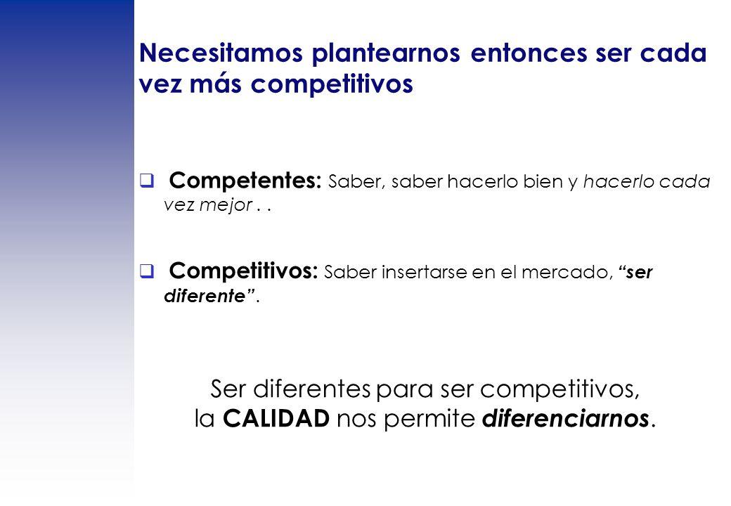 Necesitamos plantearnos entonces ser cada vez más competitivos