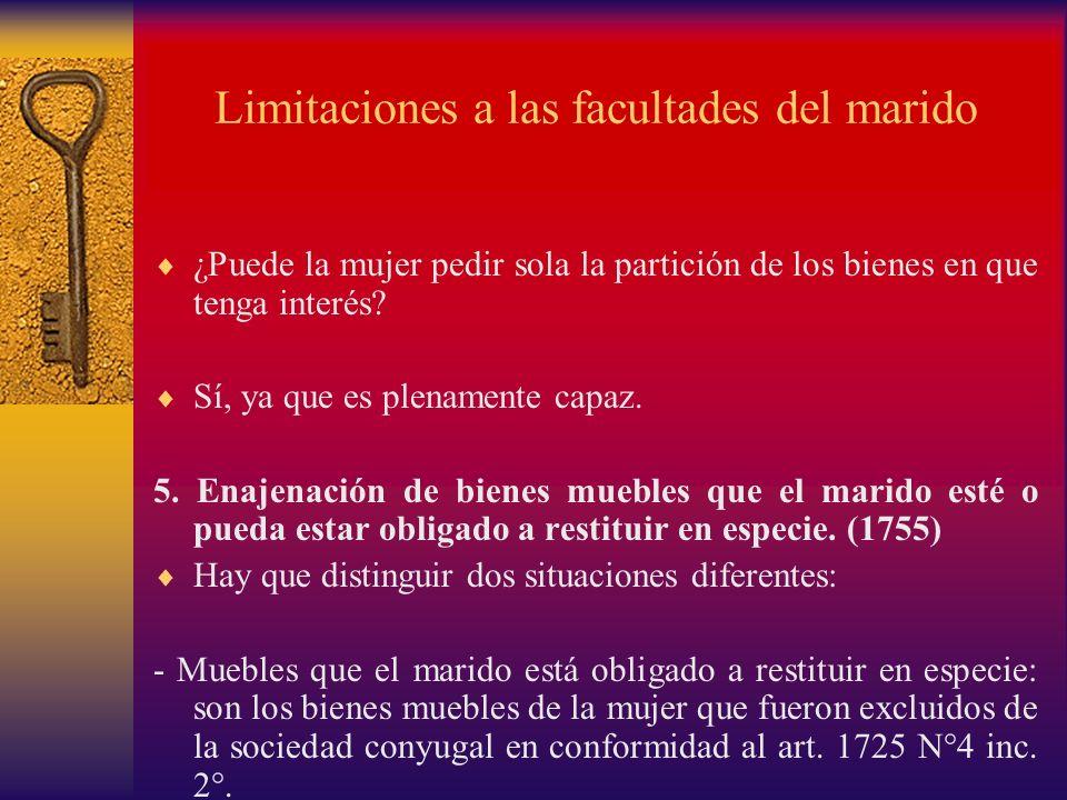 Limitaciones a las facultades del marido