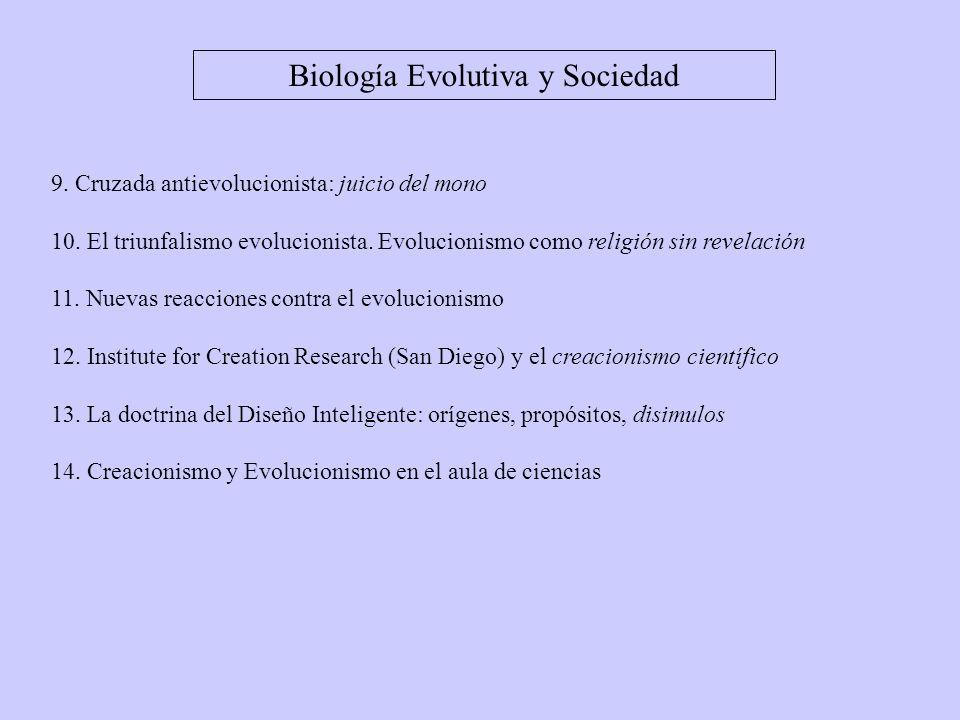 Biología Evolutiva y Sociedad