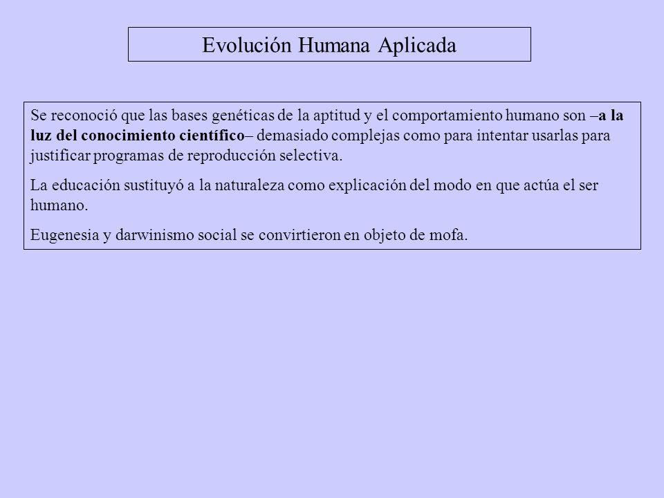 Evolución Humana Aplicada
