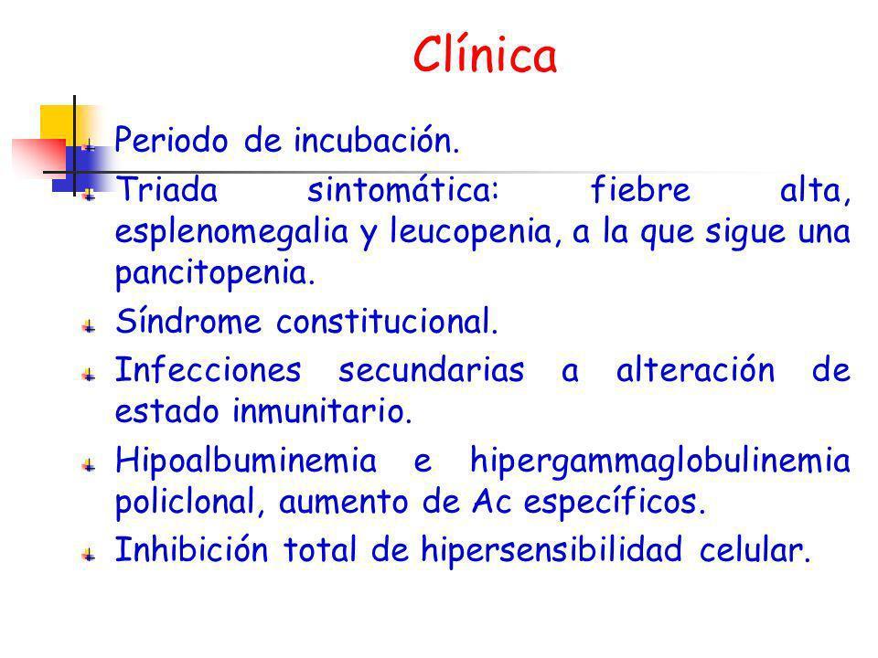 Clínica Periodo de incubación.
