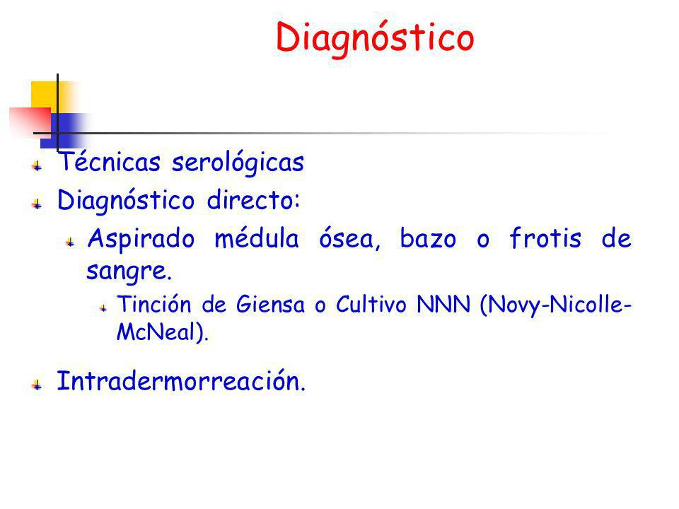 Diagnóstico Técnicas serológicas Diagnóstico directo:
