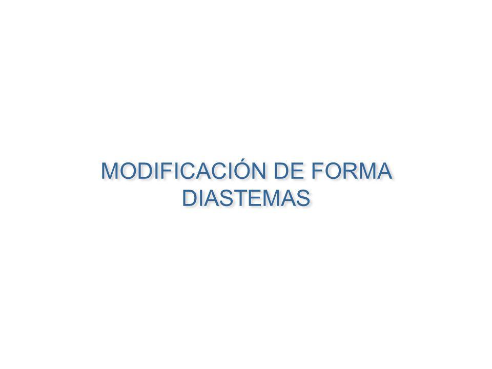MODIFICACIÓN DE FORMA DIASTEMAS