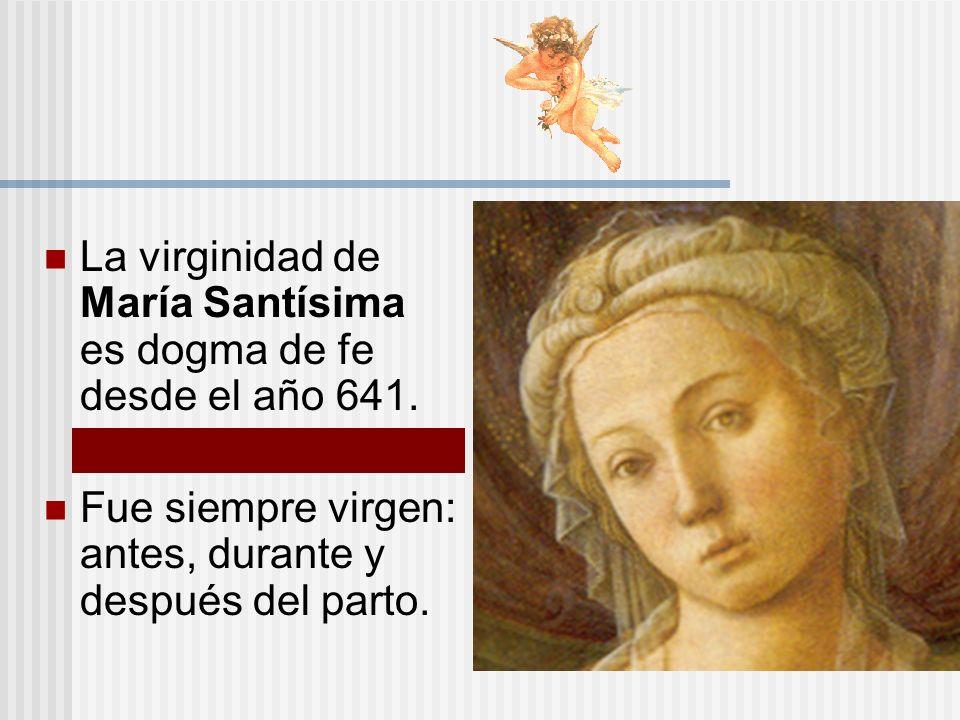 La virginidad de María Santísima es dogma de fe desde el año 641.