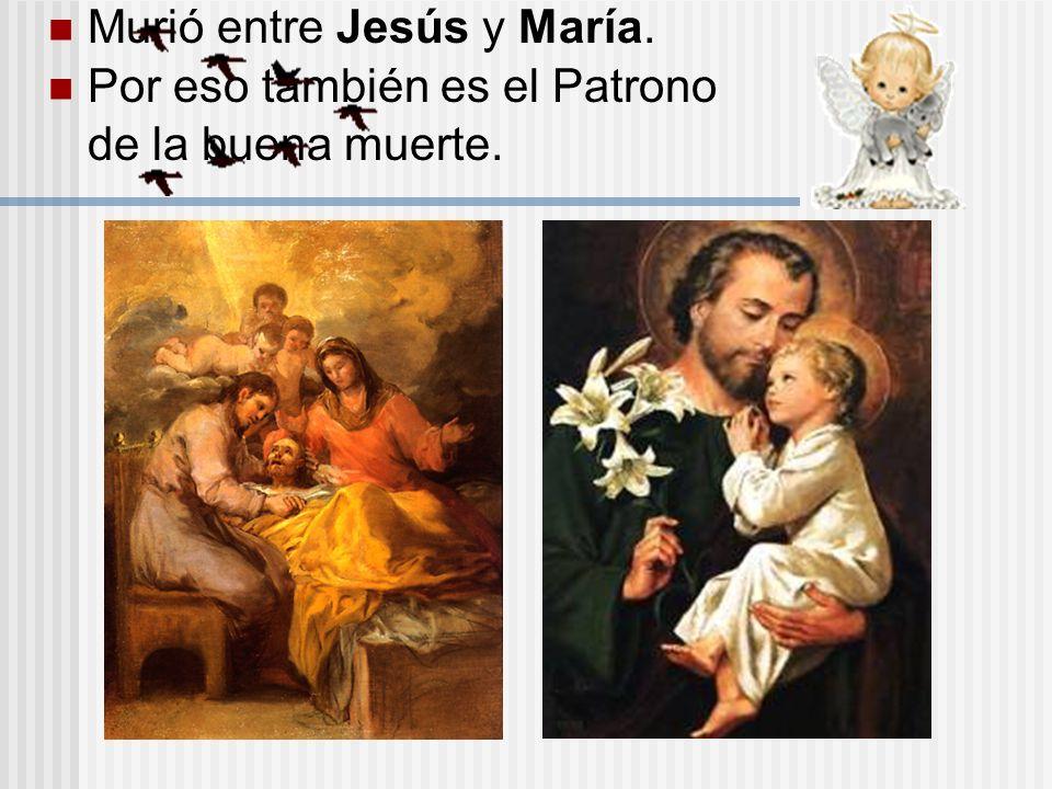 Murió entre Jesús y María.