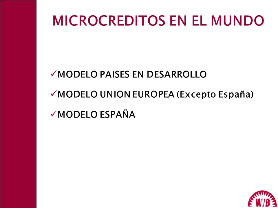 MICROCREDITOS EN EL MUNDO