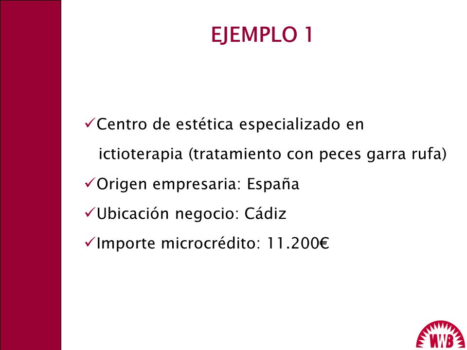 EJEMPLO 1 Centro de estética especializado en