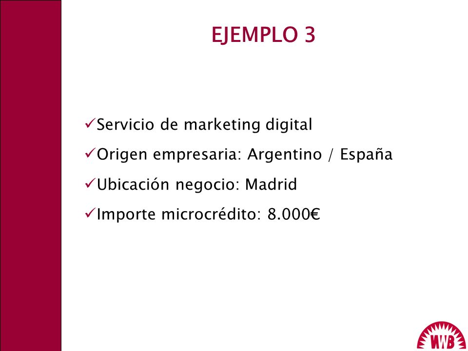 EJEMPLO 3 Servicio de marketing digital