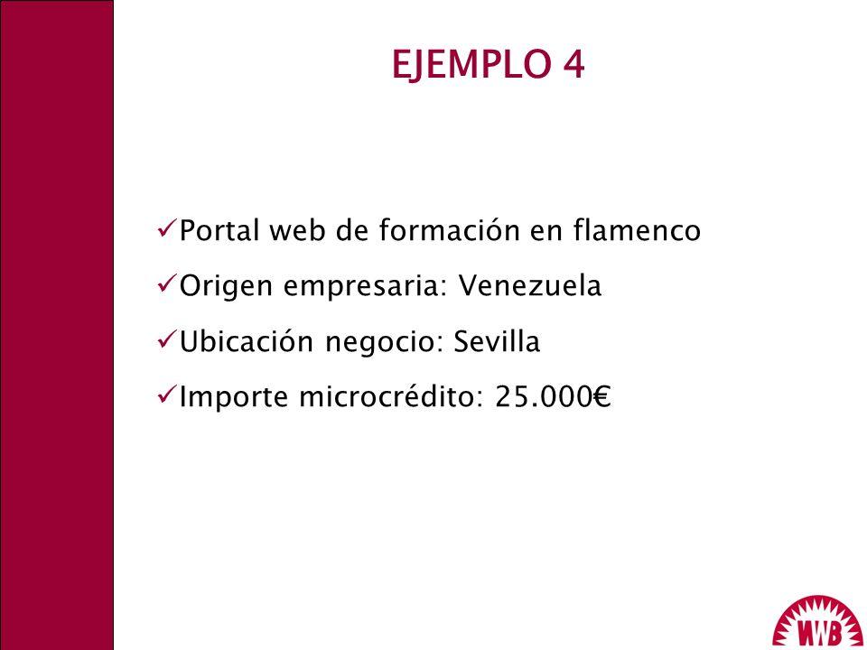 EJEMPLO 4 Portal web de formación en flamenco