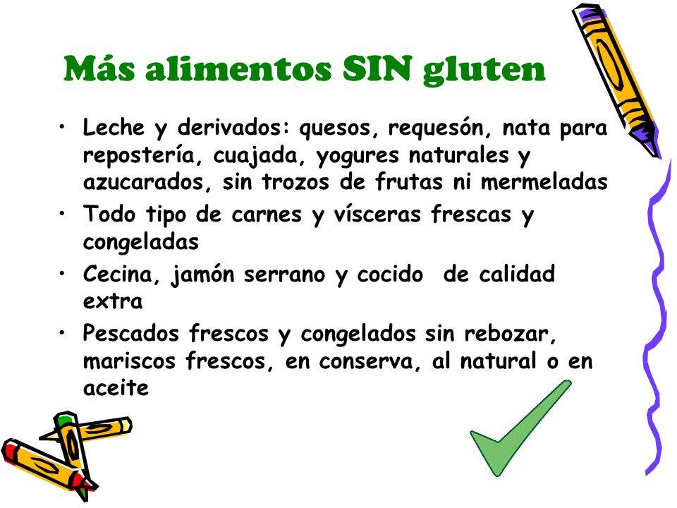 Más alimentos SIN gluten