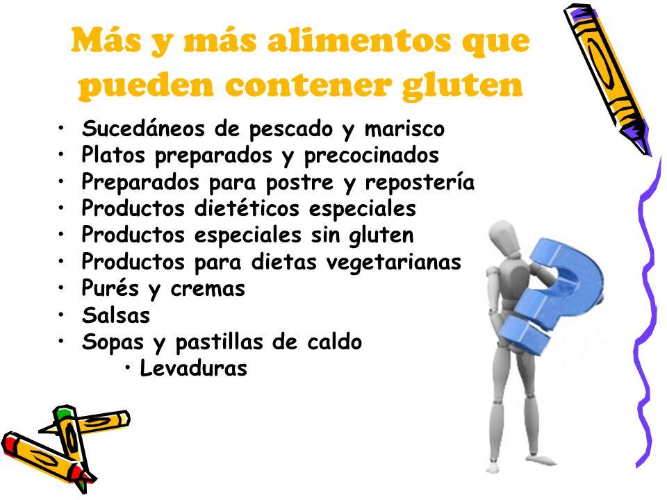 Más y más alimentos que pueden contener gluten