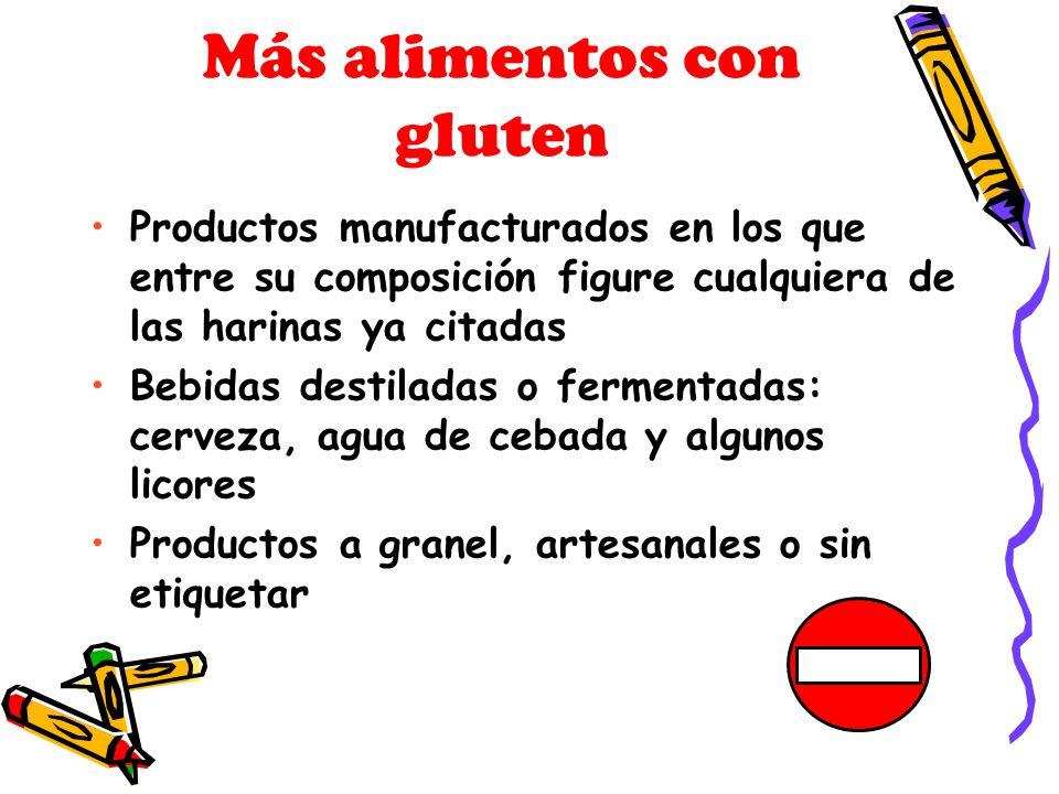 Más alimentos con gluten