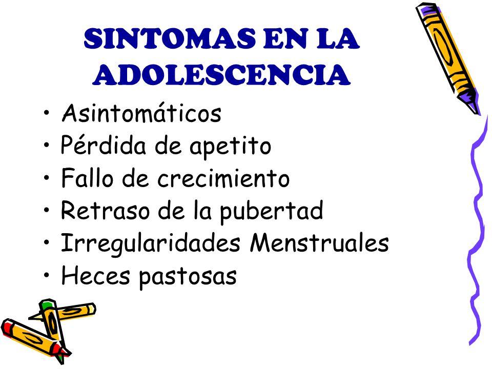 SINTOMAS EN LA ADOLESCENCIA
