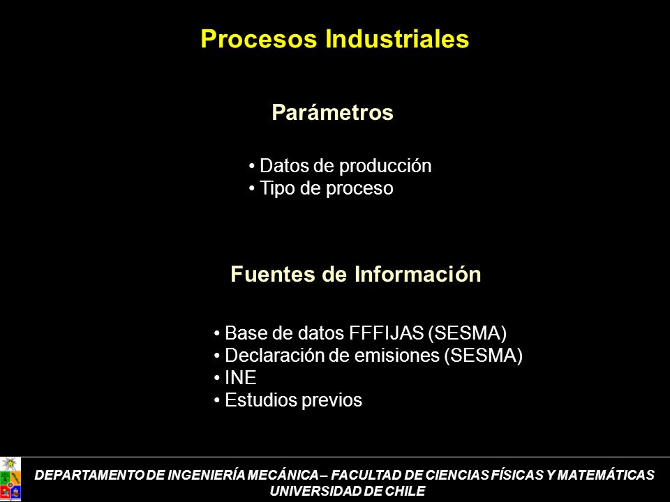 Procesos Industriales Fuentes de Información