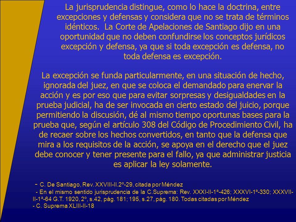 - C. De Santiago, Rev. XXVIII-II.2º-29, citada por Méndez