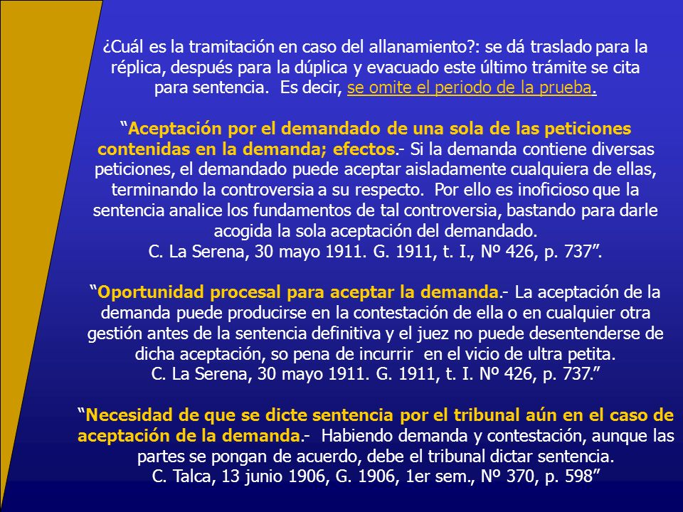 C. La Serena, 30 mayo 1911. G. 1911, t. I., Nº 426, p. 737 .