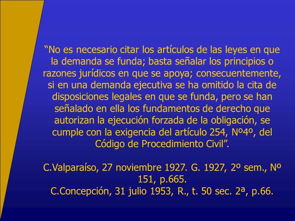 C.Valparaíso, 27 noviembre 1927. G. 1927, 2º sem., Nº 151, p.665.