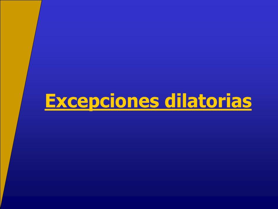 Excepciones dilatorias