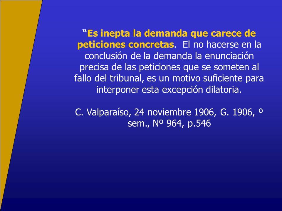 C. Valparaíso, 24 noviembre 1906, G. 1906, º sem., Nº 964, p.546