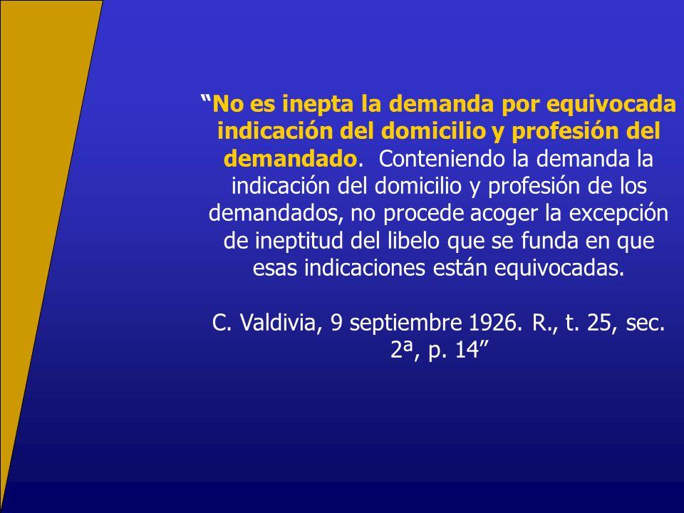 C. Valdivia, 9 septiembre 1926. R., t. 25, sec. 2ª, p. 14