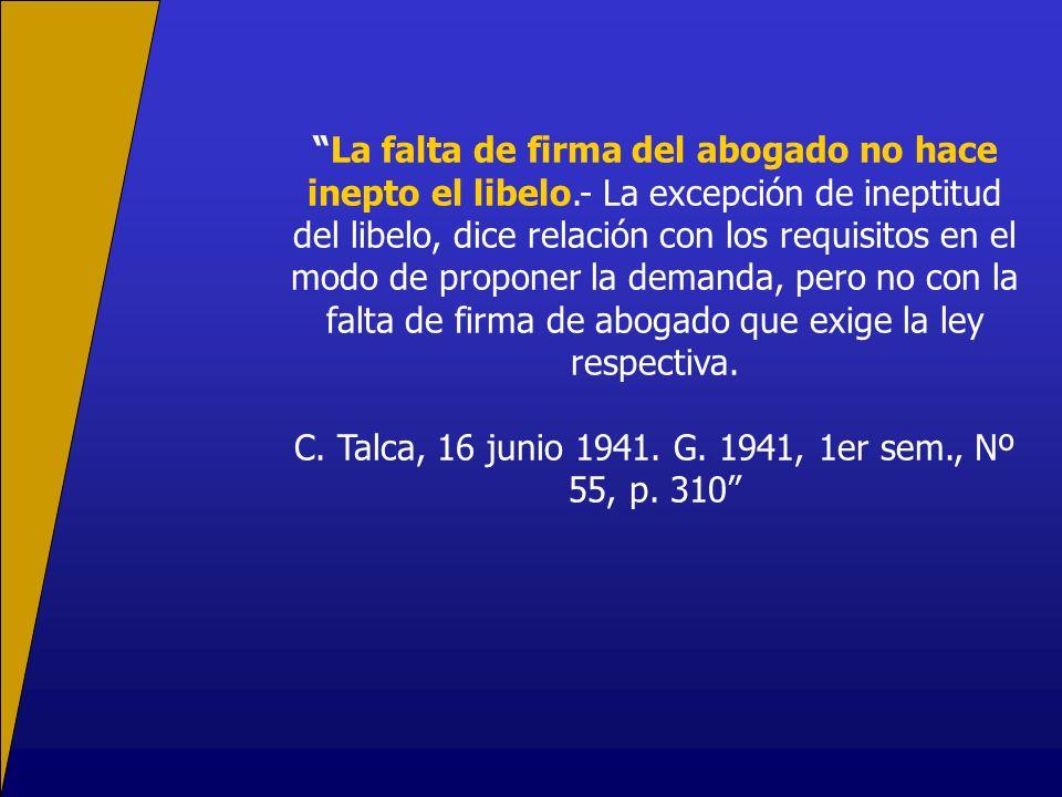 C. Talca, 16 junio 1941. G. 1941, 1er sem., Nº 55, p. 310