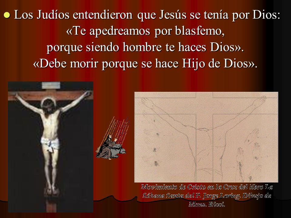 Los Judíos entendieron que Jesús se tenía por Dios: