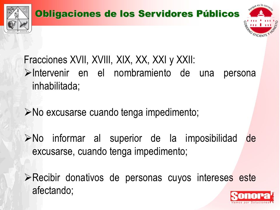 Fracciones XVII, XVIII, XIX, XX, XXI y XXII: