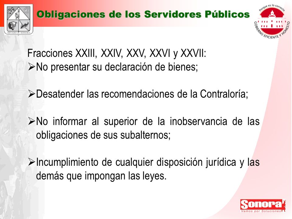 Fracciones XXIII, XXIV, XXV, XXVI y XXVII: