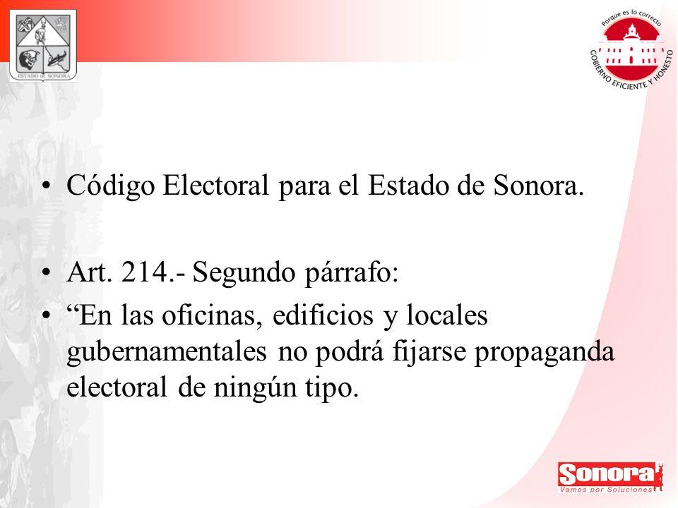 Código Electoral para el Estado de Sonora.