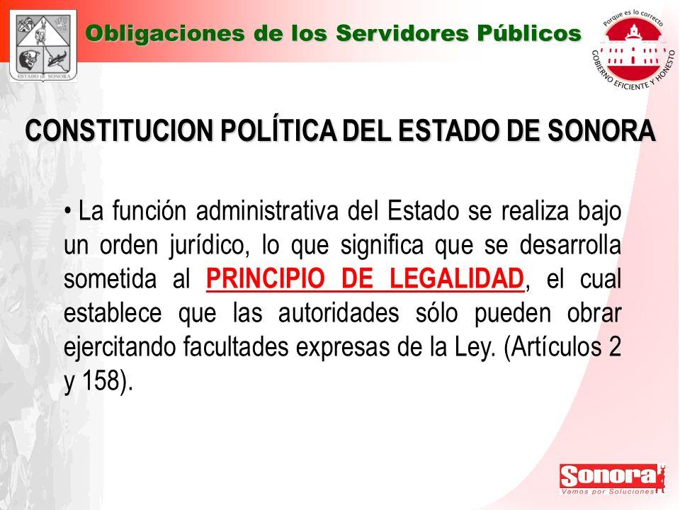 CONSTITUCION POLÍTICA DEL ESTADO DE SONORA