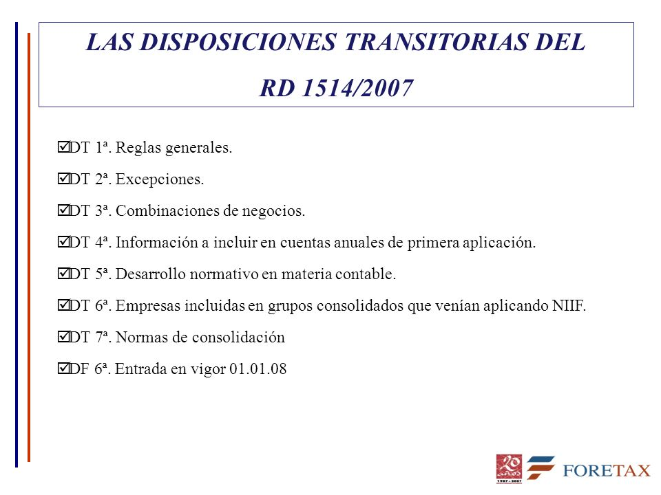 LAS DISPOSICIONES TRANSITORIAS DEL