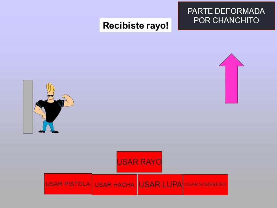 Recibiste rayo! PARTE DEFORMADA POR CHANCHITO USAR RAYO USAR LUPA