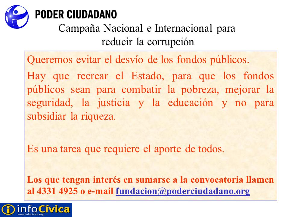 Campaña Nacional e Internacional para