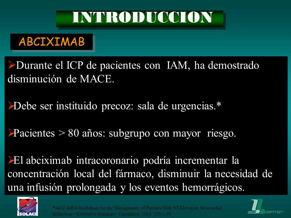 INTRODUCCION ABCIXIMAB