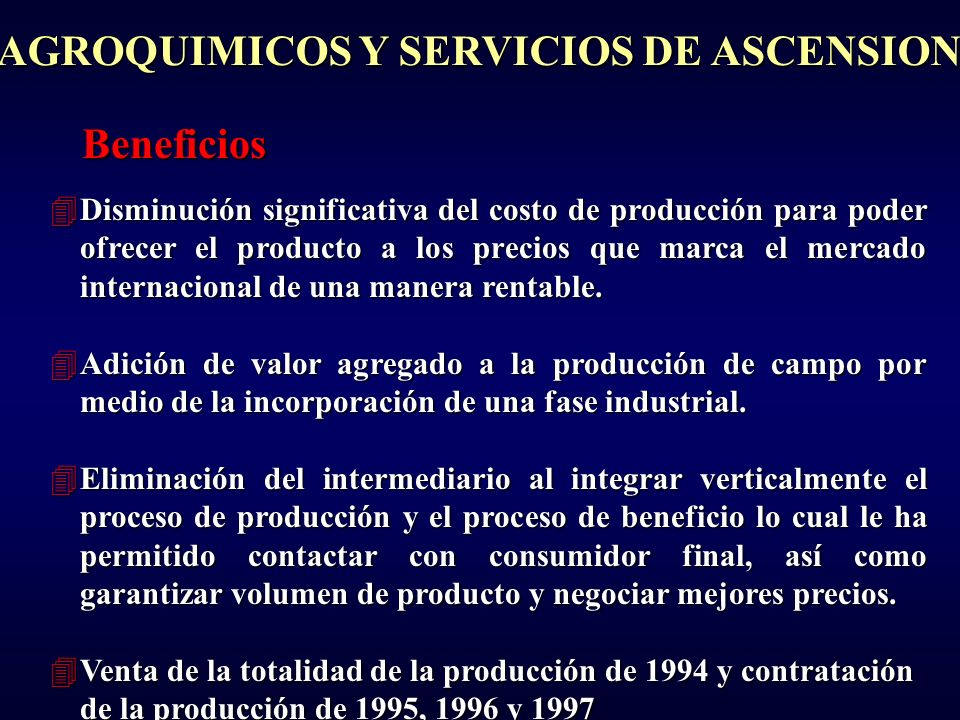 AGROQUIMICOS Y SERVICIOS DE ASCENSION