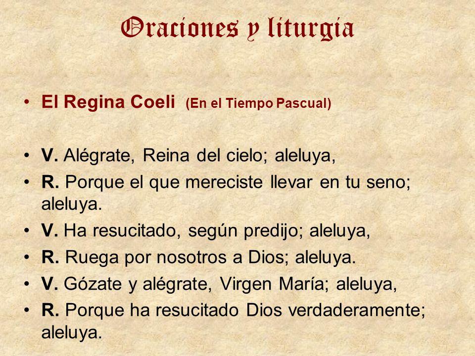 Oraciones y liturgia El Regina Coeli (En el Tiempo Pascual)