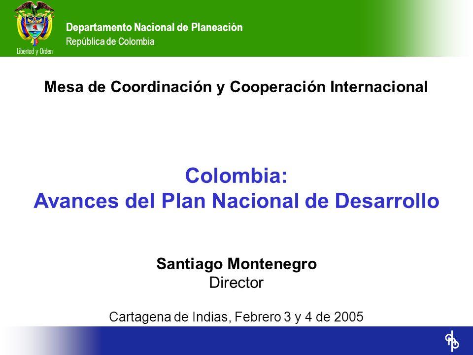 Colombia: Avances del Plan Nacional de Desarrollo
