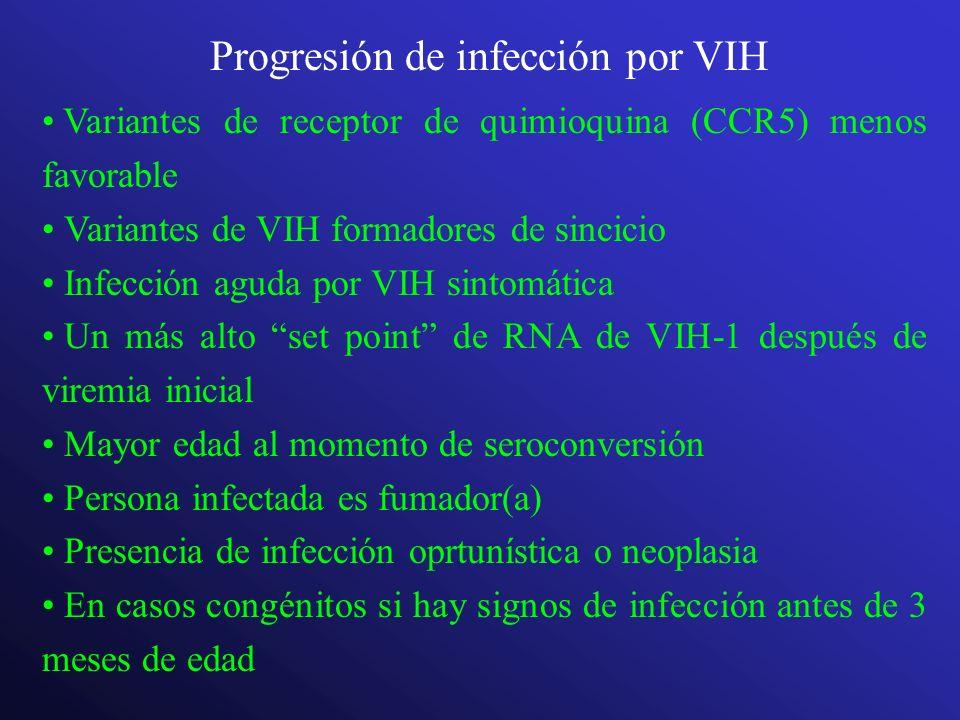 Progresión de infección por VIH