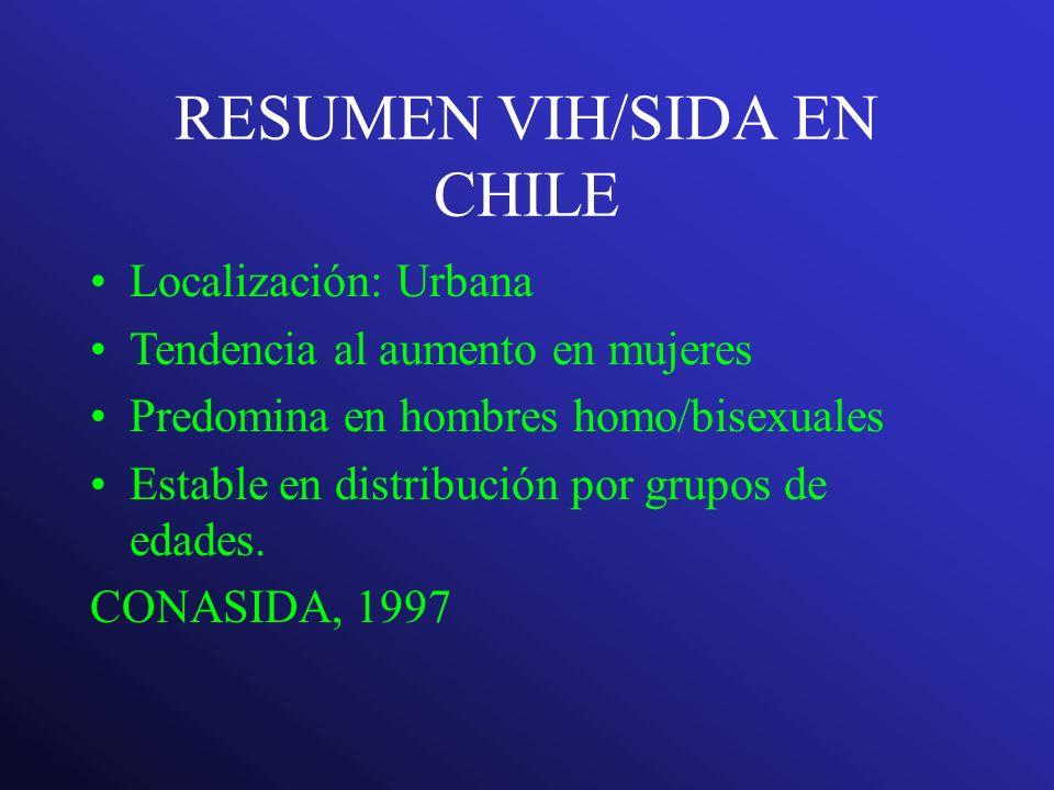 RESUMEN VIH/SIDA EN CHILE