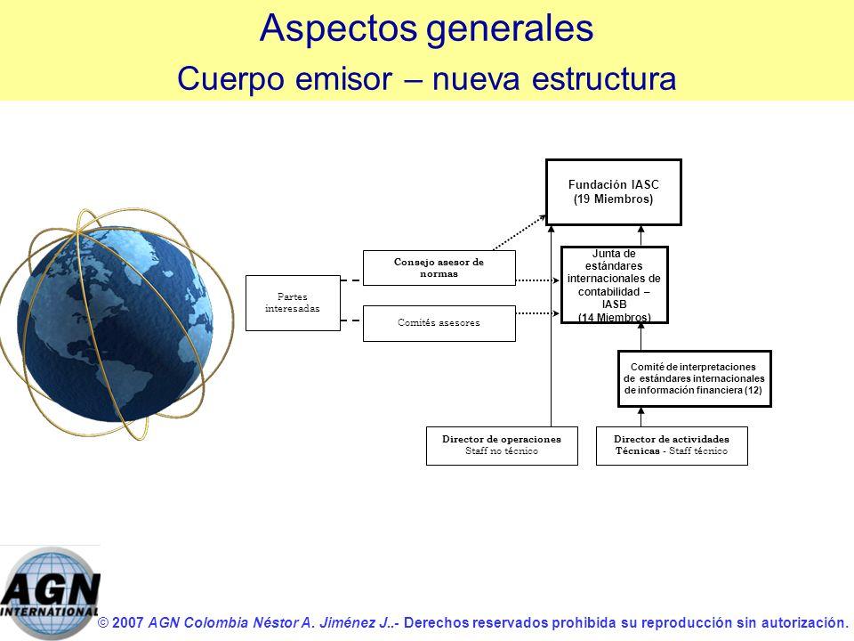 Aspectos generales Cuerpo emisor – nueva estructura Fundación IASC