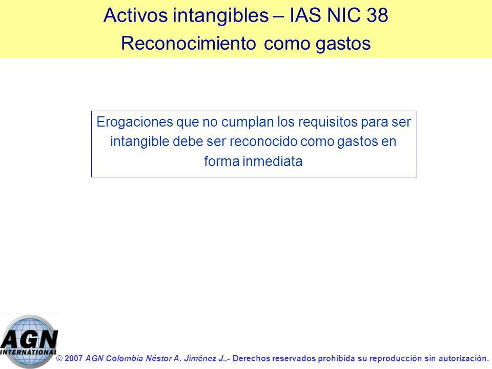 Activos intangibles – IAS NIC 38