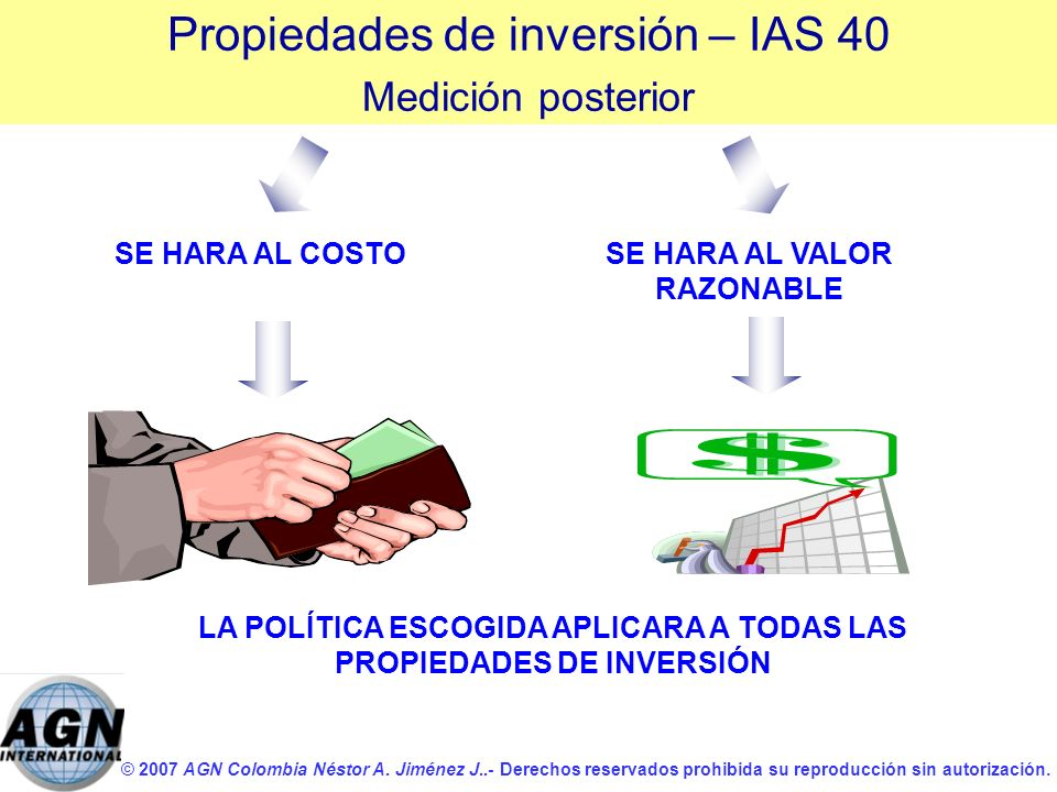 Propiedades de inversión – IAS 40
