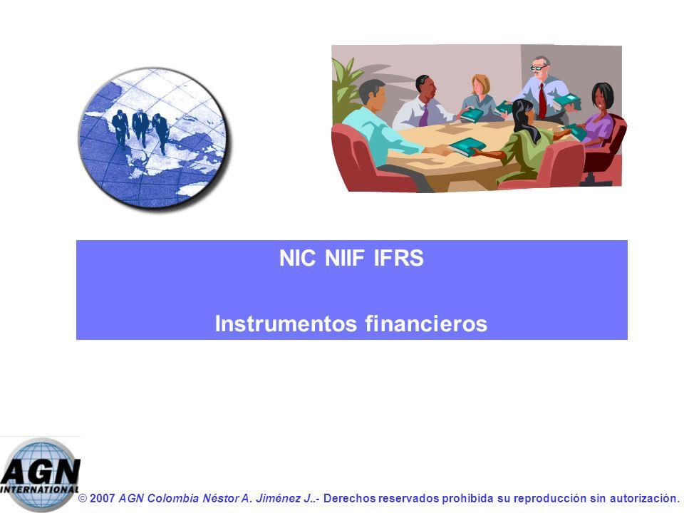 NIC NIIF IFRS Instrumentos financieros